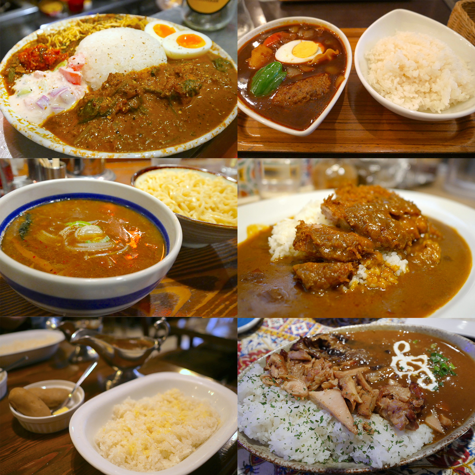 Various kinds of curry in Kanda