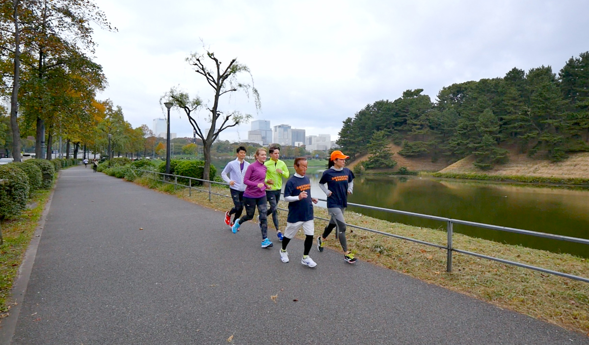 Running along Imperial Palace