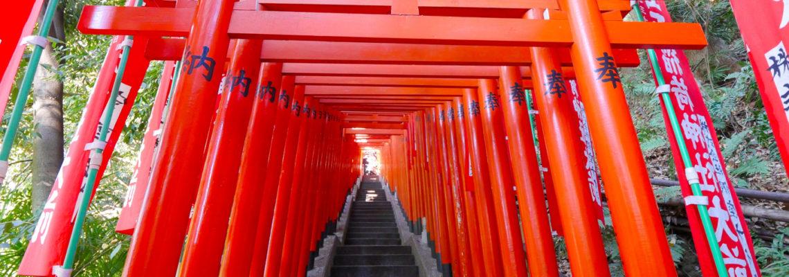 Senbon Torii: A line of red gates