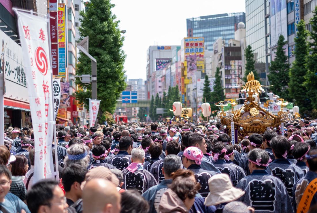Mikoshi parade in Akihabara