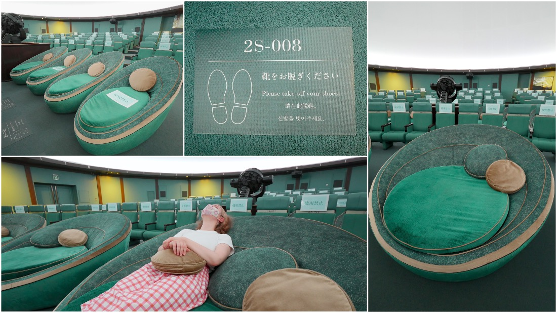 试着躺在了VIP席上。超级舒服!!