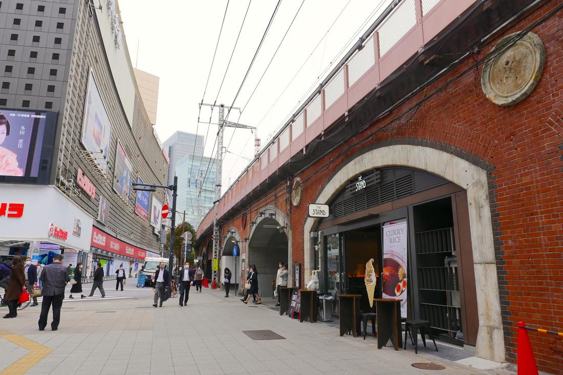 JR有樂町站前有歷史的紅磚高架橋下