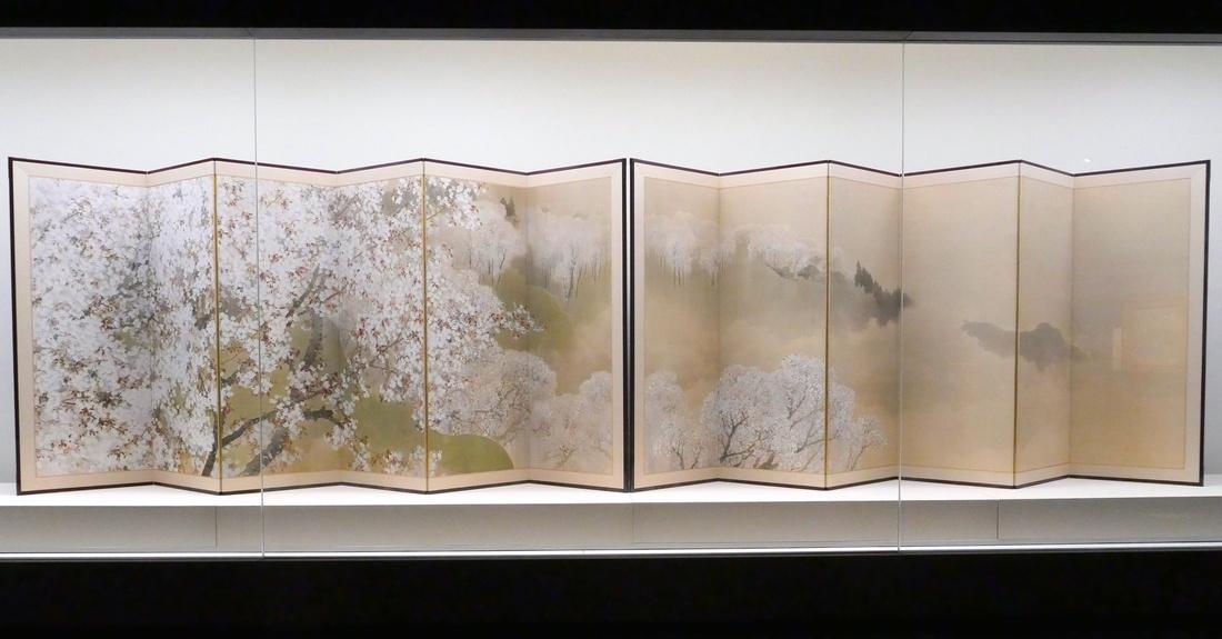 菊池芳文 KIKUCHI, Hobun《小雨中的吉野》(1914年)