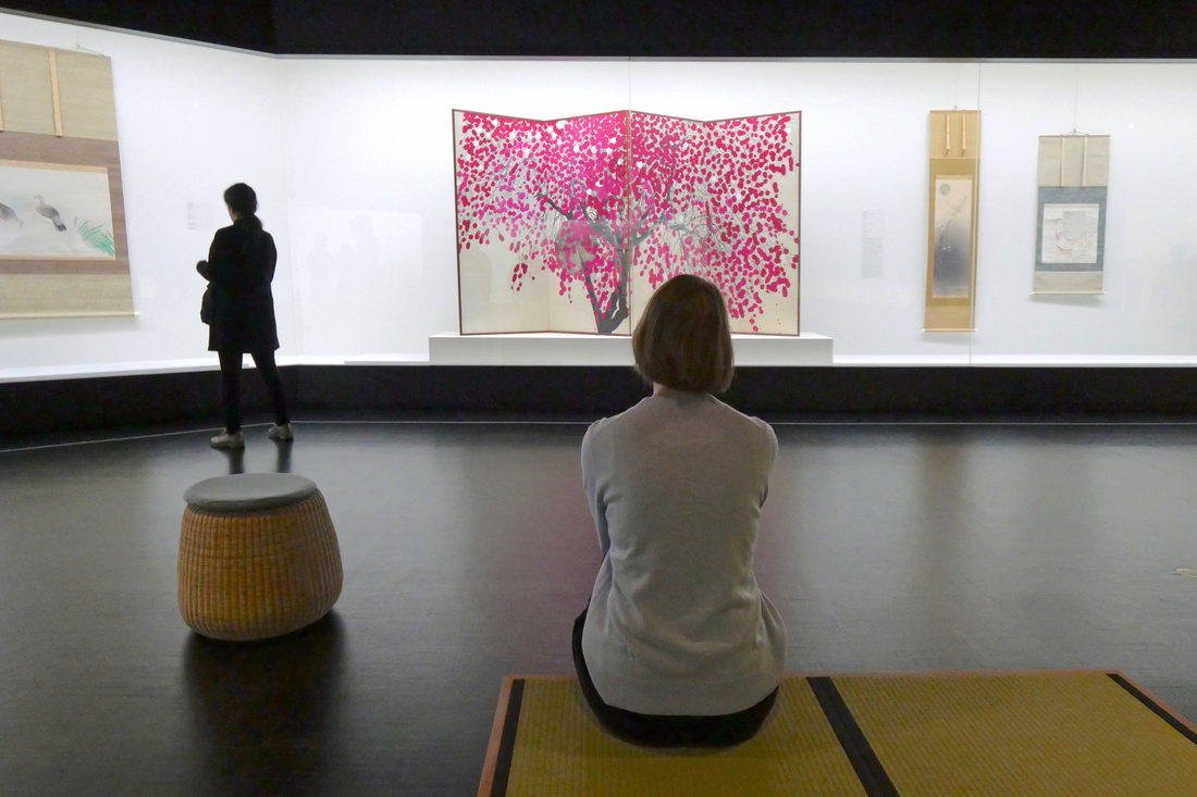 船田玉樹 FUNDA, Gyokuju《花之黃昏》(1938年)